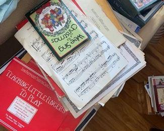 Sheet music $1 ea