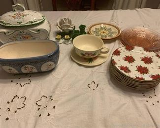 Assortment of Vibrant Painted Dinner and Serve Ware