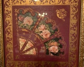 Carved Floral Fan Wall Decor