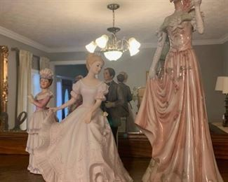 Homco Victorian Style Porcelain Figurines