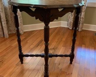 Pie Crust Carved Side Table