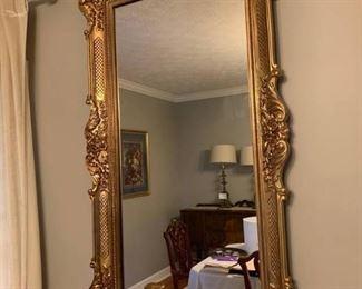 Venetian Gold Guided Wall Mirror