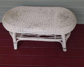 Vintage Wicker Coffee Table