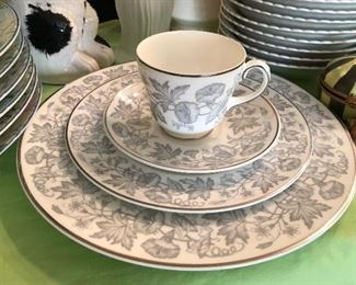 "Wedgewood ""Wildflower"" china set - service for 8 - $90 for all"