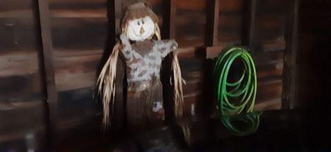 Scarecrow / garden hose
