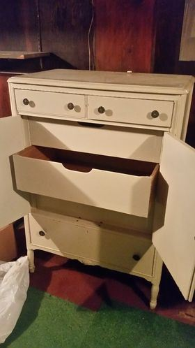 Beautiful white embellished cabinet (inner drawers)