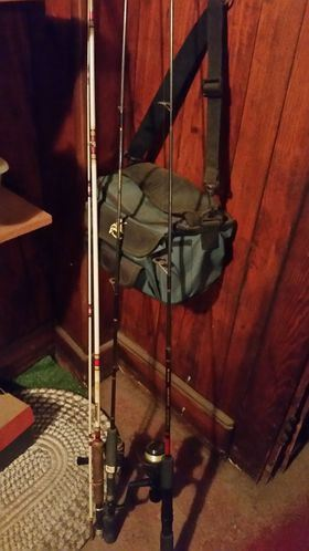 Fishing poles and other equipment