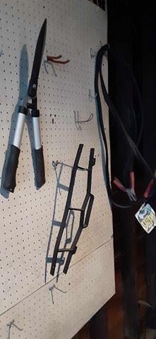 Garage essentials (clippers, jumper cables)