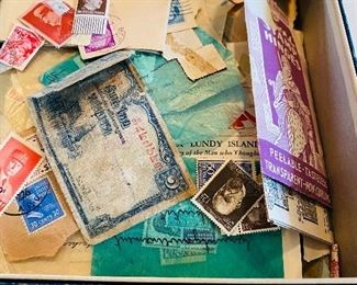 $300-Large stamp collection contains various stamps,  circulated and uncirculated, including WW2 era German stamps.