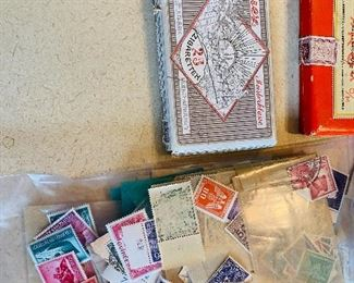 $300-Large stamp collection contains various stamps,  circulated and uncirculated, including WW2 era Nazi Germany stamps.