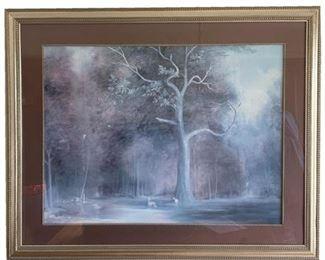 Decorator Pastoral Landscape Framed Print