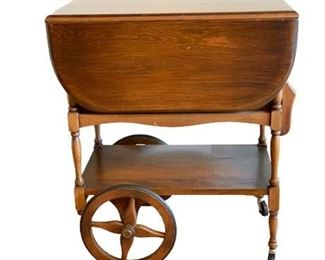 Maple Butlers Drop Leaf Tea Cart Table