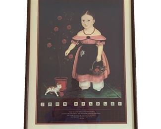 "John Bradley ""Little Girl in Lavender"", Framed Print"