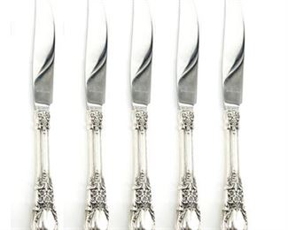 "Lunt ""American Victorian"" Sterling Dinner Knives Set of Six"