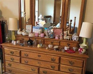 Dresser With Mirror (part of bedroom set)