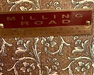Signature Label -Milling Road for Baker Furniture Co.