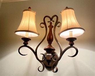 2 of 2 Wall Sconces $60