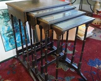 Antique chinoiserie nesting tables