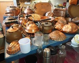 Copper kitchen cookware and more