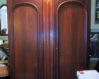 Large walnut wardrobe