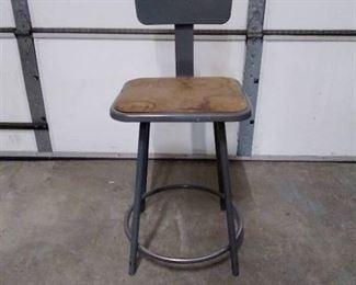 Utility metal shop chair