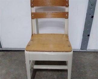 Industrial metal / wood child school chair