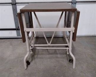 Drop Leaf typewriter table / desk, metal stand