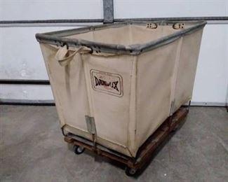 Dandux industrial canvas cart on wheels