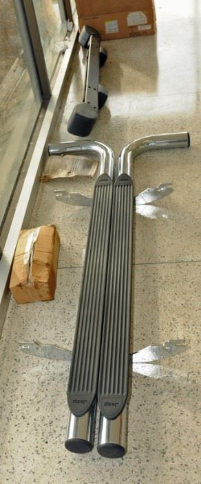 NOS CHROME JEEP STEP RAILS/RUNNING BOARDS