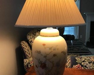 Asian Inspired Floral Table Lamps (2)