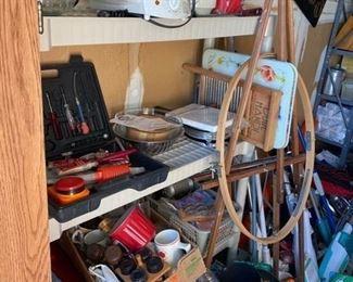 Kitchen appliances pots pans