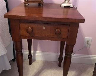 Cherry one drawer table