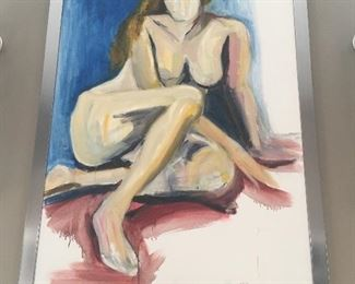 Nude Oil On Canvas By Peter Kaplan-Sandzer