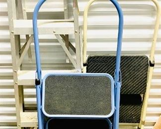 4 Foot Ladder and Two Sturdy Step Stools