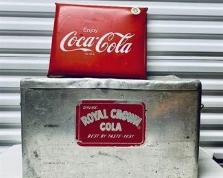 Royal Crown Cola Vintage Cooler and Coca Cola Vintage InflateaMatic