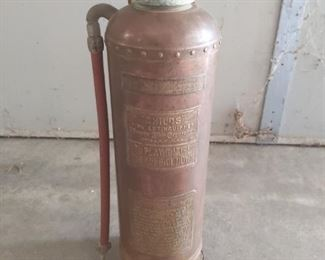 Antique Childs 2.5 Gal CopperBrass Fire Extinguisher