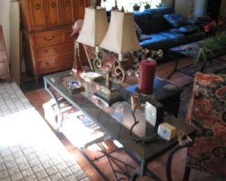 Nice Wrought Iron Tables and Lamps