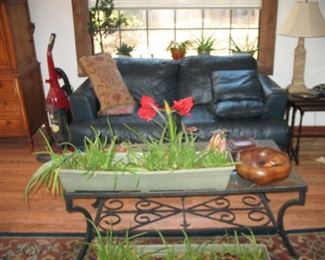 Couch and nice Wrought Iron Chair