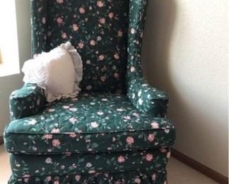 Green Floral Wingback