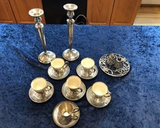Sterling Demitasse Cups