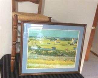 Van Gogh Print and Chair