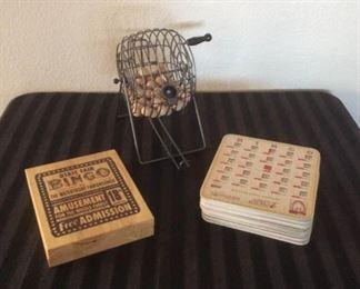 Vintage Look Bingo Game