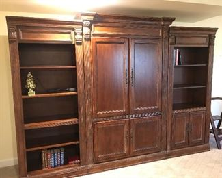 Entertainment Center can be pulled apart and used separately