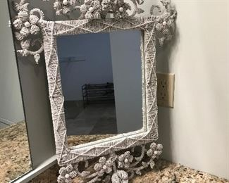 Beautiful floral grape style mirror