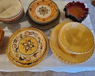Complete large set of great pottery/dishes