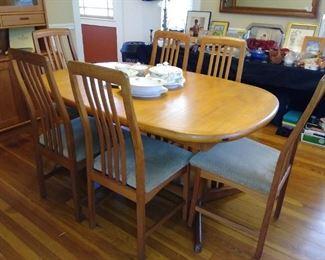 Swedish table & 6 chairs
