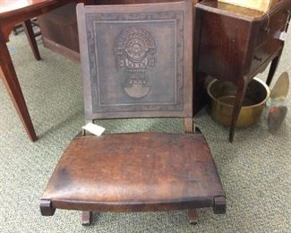 Peruvian Custom Leather Chair