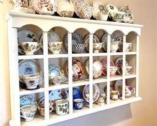 Tea Cup Sets in Display Case