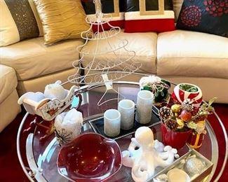 Chrome & Glass Sofa Table
