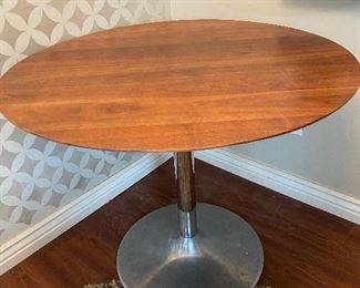 Mid-Century Modern Reproduction Tulip Style Walnut Table